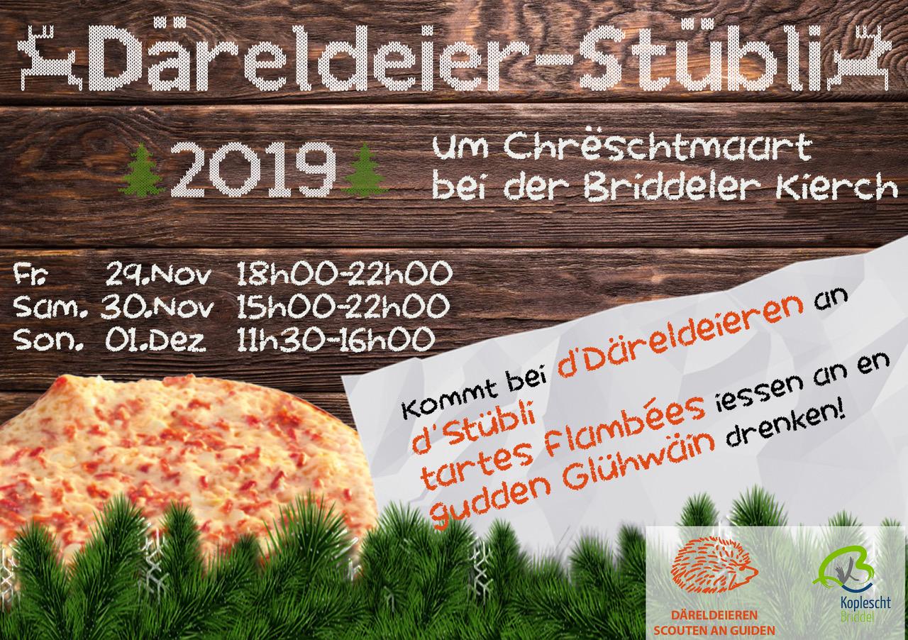 Däreldeier-Stübli 2019 um Chreschtmaart bei der Briddeler Kierch